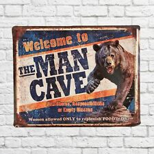 Welcome to the Man Cave, Man Cave sign, man cave decor, man cave pictures