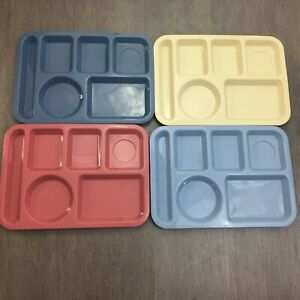 Tucker Housewares Divided Trays Camping Kids Lunch Cafeteria #0146-1 Lot of 4