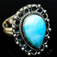 Larimar 925 Sterling Silver Ring Size 7.5 Ana Co Jewelry R13761F