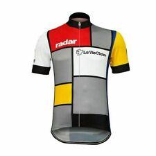 Retro 1985 La Vie Claire Piet Mondrian Cycling Jersey  Bicycle jerseys