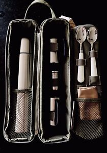 Harry & David Coffee Picnic Travel Tote w/ Vacuum Flask & Insulated Cups NEW