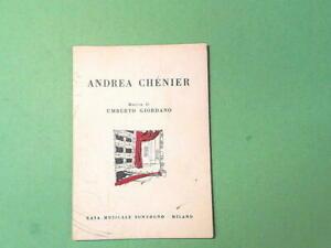 ANDREA CHENIER GIORDANO ILLICA LIBRETTO OPERA MUSICA GIORDANO SONZOGNO 1975