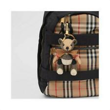 Burberry Thomas Bear Bag charm Plaid Cashmere Key Ring Holder