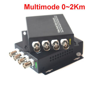 Video Media Converters, 4CH Video over Fiber Optic 20Km Transmitter and Receiver