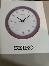 Seiko Wall Clock Silver-Tone Metallic Case