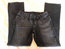 Women's Eddie Bauer Classic Fit Boot Cut Black Specially Dyed Denim Jeans 6