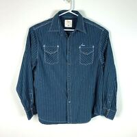 RM Williams Classic Fit Snap Button Long Sleeve Shirt Size Men's Large