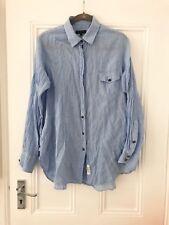 Nuevo Rag & Bone Camisa Cuadros Azul Blanco Reino Unido de gran tamaño sueltos: S/M Suelto RRP £ 255 Unisex