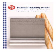 Tala Stainless Steel Baking Pastry Scraper with Measurements - Silver - FREE P&P