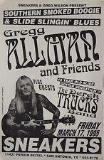 Gregg Allman 1995 San Antonio, Texas Concert Tour Poster - Southern Rock Legend