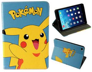 Fo iPad Pro 10.5 / 10.2 / Air 3 Pokemon Pikachu Anime Manga Japan New Case Cover