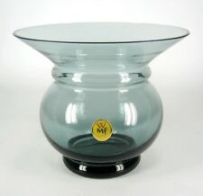 WMF Designer Glas Vase Turmalin-Grün Kristall 50er / 60er Jahre Vintage Label