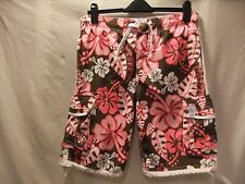 "GENTS NWT Petroleum 36"" waist BROWN-CORAL-IVORY/COTTON CLASSIC BOARD-SURF SHORTS"