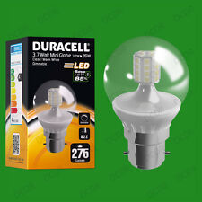 12x 3.7W Dimmable Duracell LED Clear Mini Globe Instant On Light Bulb BC B22