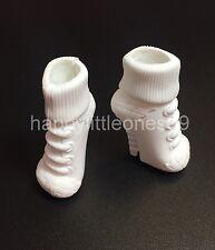 1 pair (2pcs) Mattel Monster High Doll Shoes White Brand New
