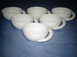 Rosenthal Cupola Weiss Porzellan 6 x Teetasse je 10,7 cm Studio-Linie NEU