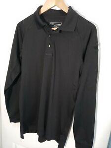 5.11 511 Tactical Series Long Sleeve Polo  Shirt Mens Black Size Small