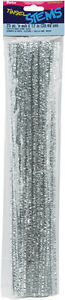 Tinsel Stems 6Mm Silver 25 Piece