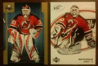 MARTIN BRODEUR LOT OF 2 UD New Jersey Devils Stats Leaders SL5 ICE COMB SHIP