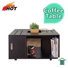 Modern Square Coffee Table - Walnut