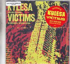 """KYLESA / VICTIMS - split 7"""" gold vinyl"""