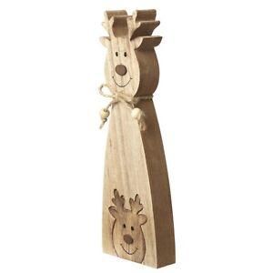 Wooden 2 in 1 Interlocking Cheerful Reindeer Ornament Heaven Sends Decoration