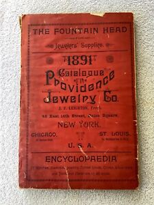 Antique 1891 Catalogue of the Providence Jewelry Co New York 400 Pages