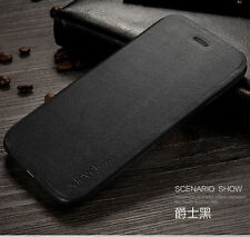 X-level Case for iPhone 7 6s Plus Luxury Leather Wallet Flip Stand Cover S003 Black for iPhone 6