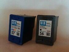 Original HP 56 57 Multipack Tiintenpatronen schwarz + farbig 2er Pack FAST VOLL