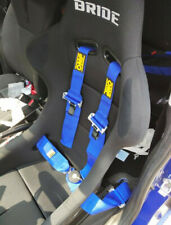 """Universal Blue 4 Point Camlock Quick Release Racing Seat Belt Harness For OMP 3"""""""