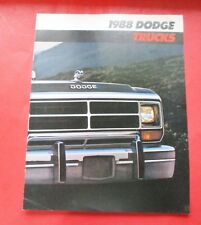 1988 DODGE TRUCK SALES SHOWROOM BROCHURE....8 - PAGES..FREE SHIPPNG