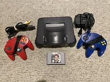 Nintendo 64 N64 Console Lot With Blue & Red Controllers And Goldeneye