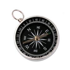 1×Aluminum Hiking Lightweight Wild Survival Professional Compass Navigation Tool