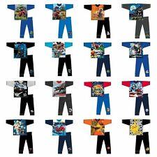 Boys Nightwear Long Sleeved PJs Pyjamas Full Length Kids 2 3 4 5 6 7 8 9 10 Yrs
