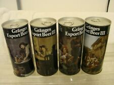 (4) Diff. 16 Oz. Granges Export Iii Pull Tab Beer Cans Drinking Scenes Tabs Inta