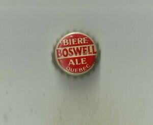 US/Canada 1 cap Beer Quebec Boswell Ale Bottled Montreal Cork-lined Rare