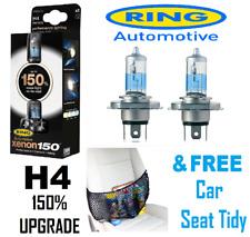Ring H4 Xenon 150 - Pair Headlamp Bulb Upgrades FREE Car Seat Tidy