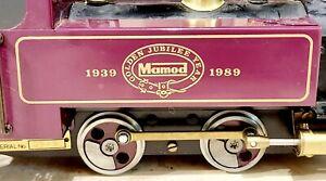 Mamod  Golden jubilee locomotive 1939-89 ,rare plum colour no.0943 train as seen