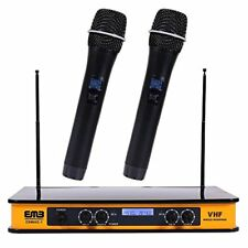 Emb Ebm60E Yellow Vhf Dual Wireless Handheld Microphone System with Echo Feature