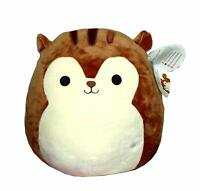 "Squishmallow 12"" Sawyer The Squirrel Animal Soft Plush Gift Toy Boys Girls Pet"