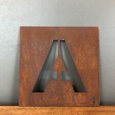 Rostbraun Metall Scrabble Buchstaben Fliesen Wand Dekoration Kunst Persönliches