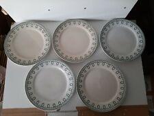 Lot 5 assiettes plate Boch freres modéle Bonaparte la louvriére 24 cm une félée