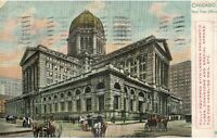 Vintage 1907 Postcard  Chicago IL New Post Office