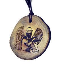 Sumerian Annunaki God Sumeria Necklace Choker Wooden Charm Handmade Engraved