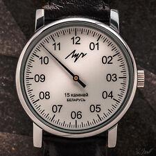 LUCH / LUTSCH Einzeigeruhr / Single Hand watch / NEU & mit 2 Bändern und Etui