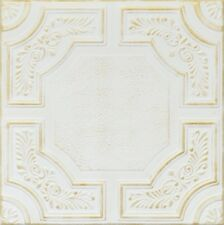 Decorative Ceiling Tiles Styrofoam 20x20 R28 White & Washed Gold