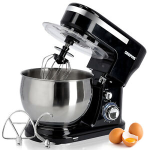 Stand Mixer 5L Mixing Bowl Beater Dough Hook 6Speed 1000W Stainless Steel Geepas