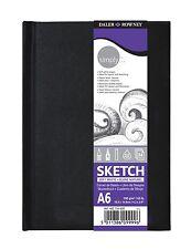 Daler Rowney Simply Artist Hardback Sketchbook A6 100gm Acid Free 54 Sheets
