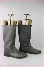 Boots REQINS Leather Hide Grey Glitter T 38,5 VERY GOOD CONDITION