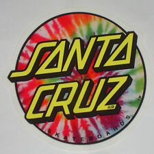 SANTA CRUZ - Tie Dye Dot Sticker / Skateboard Snowboard Surf sticker - 7.5cm